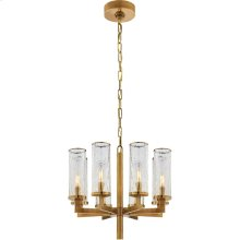 Visual Comfort KW5200AB-CRG Kelly Wearstler Liaison 8 Light 21 inch Antique-Burnished Brass Chandelier Ceiling Light in Antique Burnished Brass, Kelly Wearstler, Single-Tier, Crackle Glass