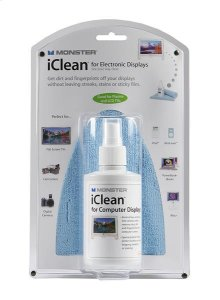 Screen Cleaner & MicroFiber Cloth for smart phone, laptop, etc. - Monster iClean - Family Size