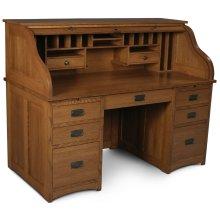 "Prairie Mission Rolltop Desk, Prairie Mission Rolltop Desk, 56""w"