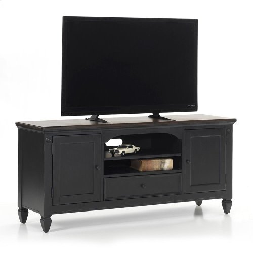 "Living Room - Glennwood 64"" TV Console  Black & Charcoal"