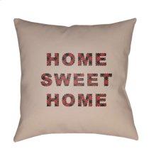 "HOME SWEET HOME PLAID-016 18"" x 18"""