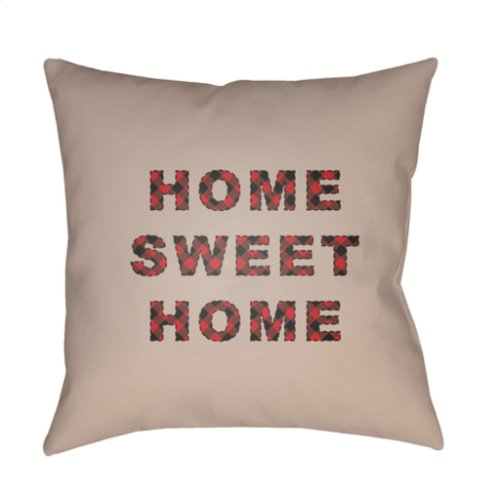 "HOME SWEET HOME PLAID-016 18"" x 18"""
