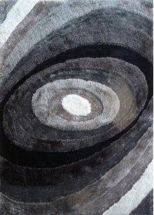 105 Black Gray Rug