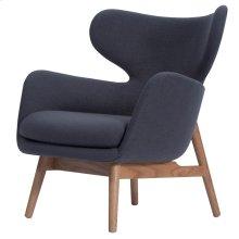 Devana Fabric Accent Chair Natural Legs, Night Gray