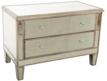 Mirrored 2-Drawer Commode