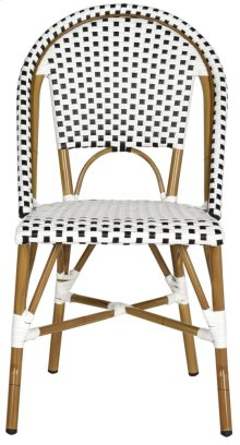 Salcha Indoor-outdoor Stacking Side Chair - Black&white