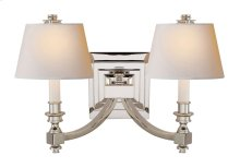 Visual Comfort MS2021PN-NP Michael S Smith Eiffel 2 Light 19 inch Polished Nickel Decorative Wall Light