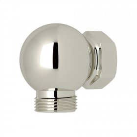 Polished Nickel Perrin & Rowe Swivel Outlet And Connector For Exposed Shower Valves