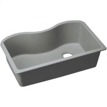 "Elkay Quartz Classic 33"" x 20"" x 9-1/2"", Single Bowl Undermount Sink, Greystone"