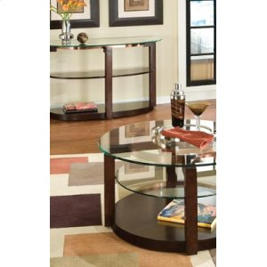 Round Cocktail Table, W/casters
