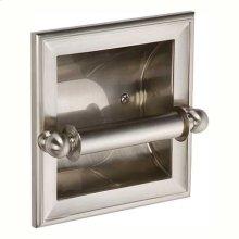 Satin Nickel Recessed Toilet Tissue Holder