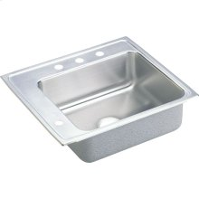 "Elkay Lustertone Classic Stainless Steel 25"" x 22"" x 5"", Single Bowl Drop-in Classroom ADA Sink"