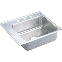 Elkay Lustertone Classic Stainless Steel 25" x 22" x 4-1/2", Single Bowl Drop-in Classroom ADA Sink
