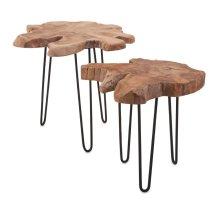Baltra Teak Wood Nesting Tables - Set of 2