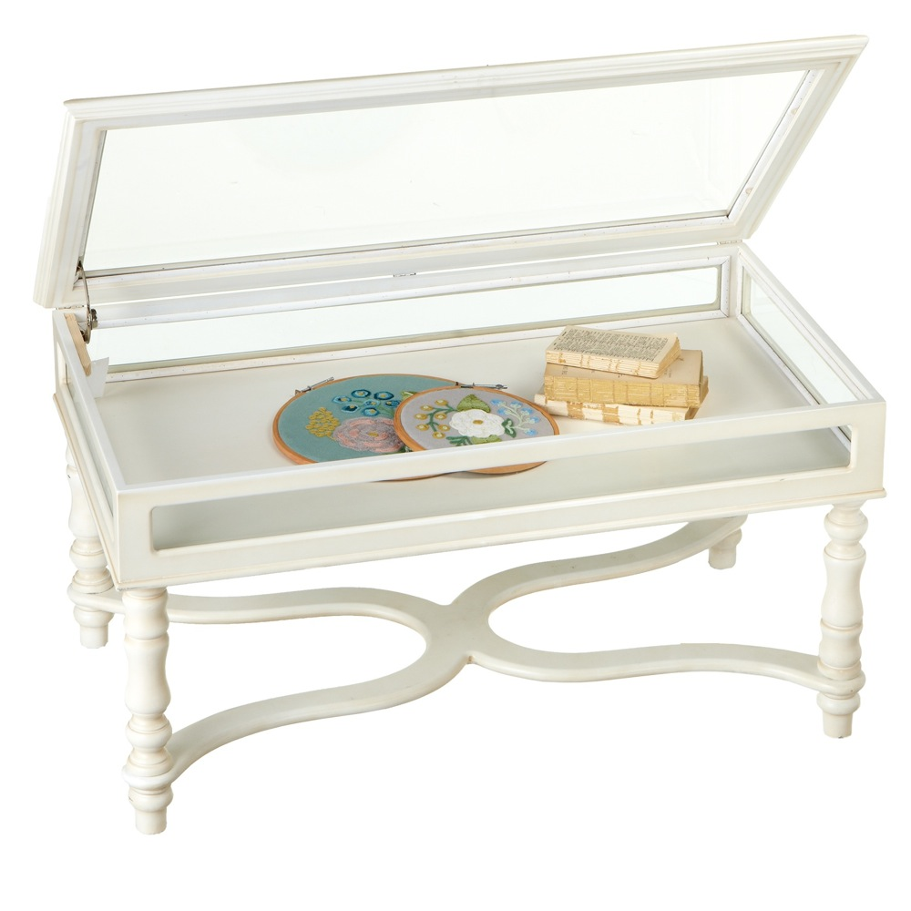 145624 in by Midwestcbk in Gypsum CO White Curio Coffee Table