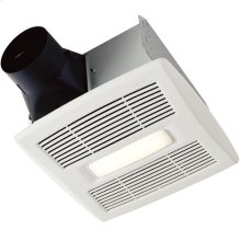Flex DC Series Bathroom Exhaust Fan with LED Light and selectable CFM Settings
