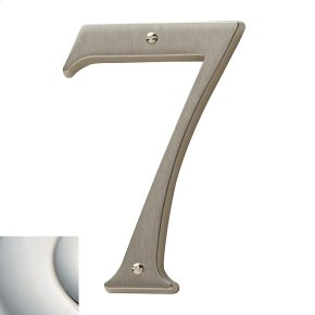 Polished Nickel with Lifetime Finish House Number - 7