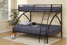 Twin/full Black Bunk Bed