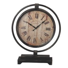 Distressed Black Desk Clock
