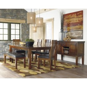 RECT DRM Butterfly EXT Table with 6 Chairs