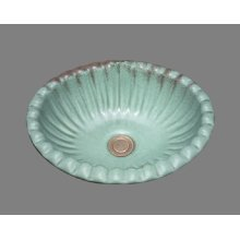 Missy - Small Fluted Oval Lavatory - Almond