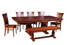 """45/68-2-12"""", *6/4* Thick Top Rectangular Trestle Table"""