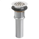 Commercial Grid Drain with Overflow - Polished Chrome Product Image