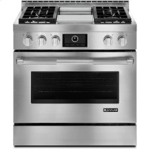 """Jenn-Air® 36"""" Pro-Style® LP Range with Griddle and MultiMode® Convection System, Pro-Style® Stainless Handle"""