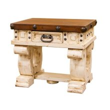 White/Walnut Don Carlos End Table