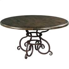 Artisans Shoppe 60IN Round Dining Table W/ Metal Base - Black Forest