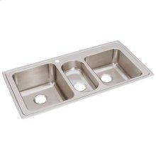 """Elkay Lustertone Classic Stainless Steel 43"""" x 22"""" x 10"""", Triple Bowl Drop-in Sink"""