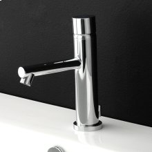"Deck-mount single-hole faucet with pop-up, no lever, 5"" spout projection."