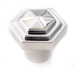 Geometric Knob A1535 - Polished Chrome