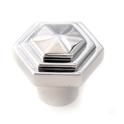 Geometric Knob A1535 - Polished Chrome