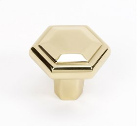 Nicole Knob A423 - Polished Brass