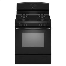 5.0 cu. ft. Gas Oven Range with Self-Cleaning Oven - black