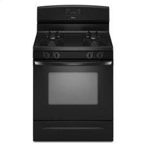 Amana5.0 cu. ft. Gas Oven Range with Self-Cleaning Oven - black