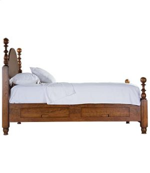 St Lawrence Cannon Ball Storage Bed - Queen