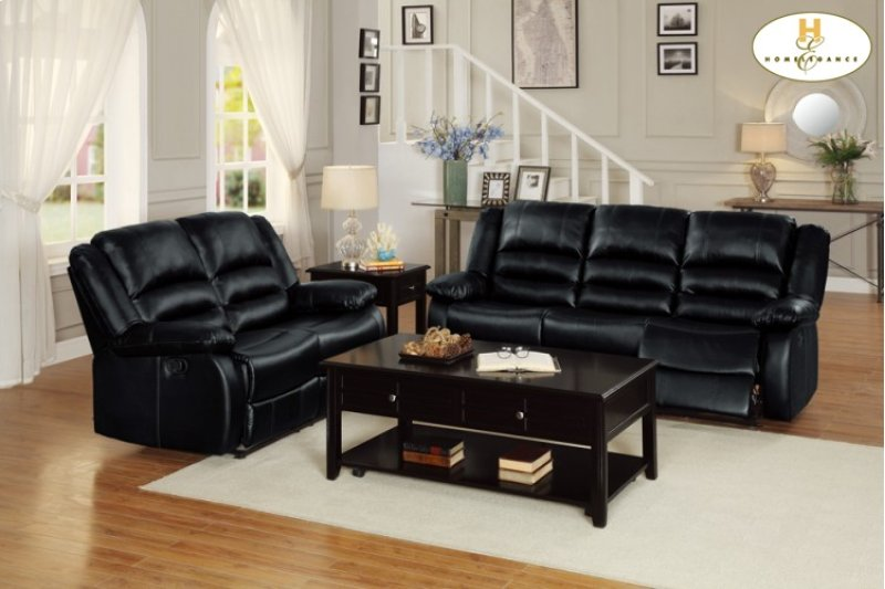 8329blk3 In By Homelegance In Price Ut Double Reclining Sofa