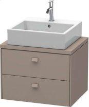 Brioso Vanity Unit For Console Compact, Basalt Matt (decor)