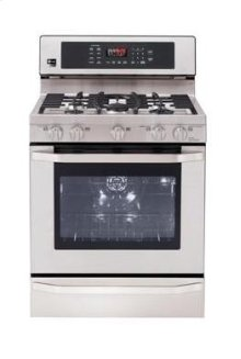 LG Studio - 5.4 cu. ft. Capacity Gas Single Oven Range with EvenJet Convection System