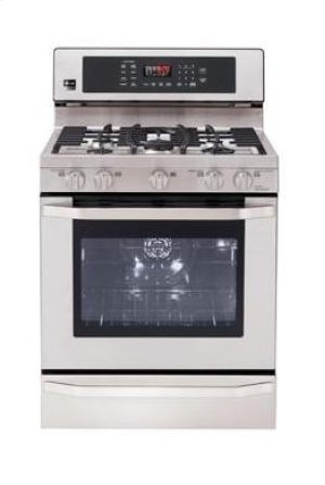 LG Studio - 5.4 cu. ft. Capacity Gas Single Oven Range with EvenJet Convection System Product Image