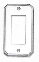 Single Rocker Traditional Switchplate - Solid Brass in SB (Shaded Bronze, Lacquered) Product Image
