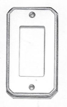 Single Rocker Traditional Switchplate - Solid Brass in SB (Shaded Bronze, Lacquered)