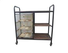 Emerald Home D102-07 Laurell Hill Bar Cart, Patina Gray