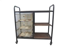 Emerald Home D102-07 Laurell Hill Bar Cart, Patina Gray