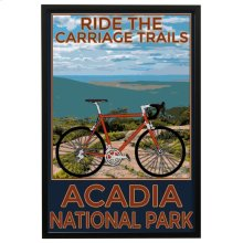 Arcadia Trails  Made in USA  Artist Print  Faux Wood Frame Under Glass  Attached Hanging Hardwar