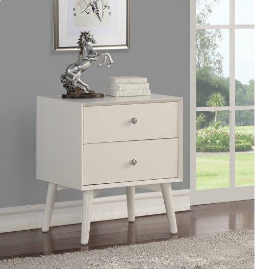 Emerald Home Home Decor 2 Drawer Nightstand-white B351-04wht