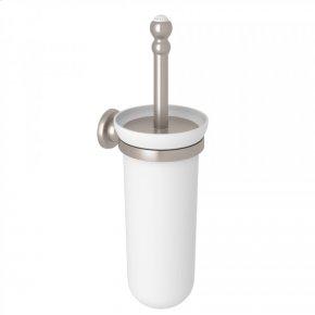Satin Nickel Perrin & Rowe Edwardian Wall Mount Toilet Brush Holder