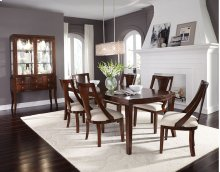 STANDARD 18121-18124 Insignia Leg Table With 18 Inch Leaf & 6 Side Chairs